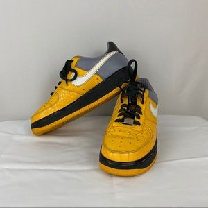 Nike Air Force 1's Yellow Grey White